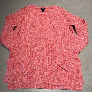 GAP pink/coral 100% cotton sweater Sz M